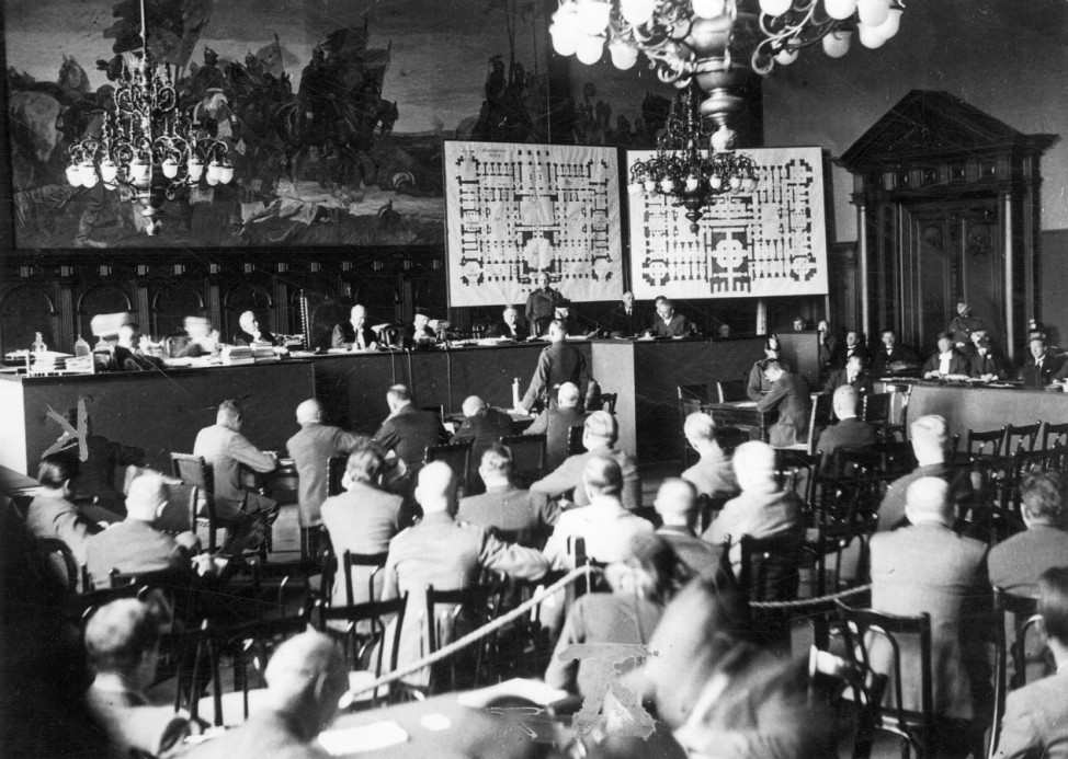 Verhandlung beim Reichstagsbrandprozeß, 1933