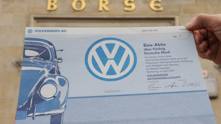 VW-Aktie im Höhenflug