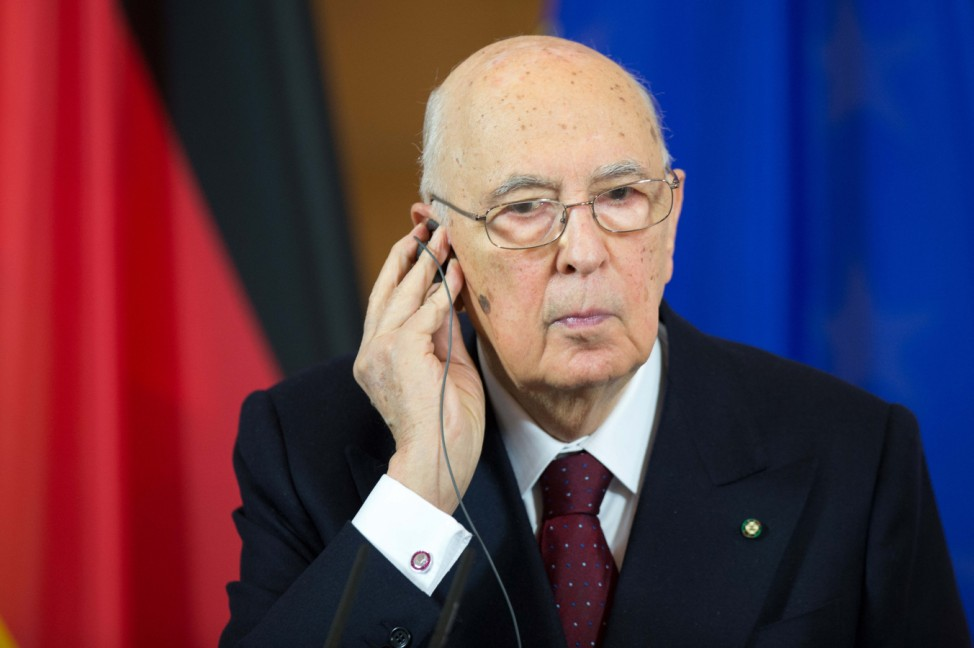 Italiens Präsident Napolitano in Deutschland