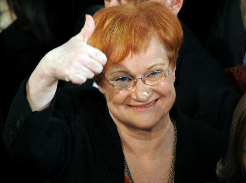 Halonen als Finnlands Staatspräsidentin wiedergewählt
