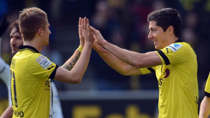 Marco Reus und Robert Lewandowski