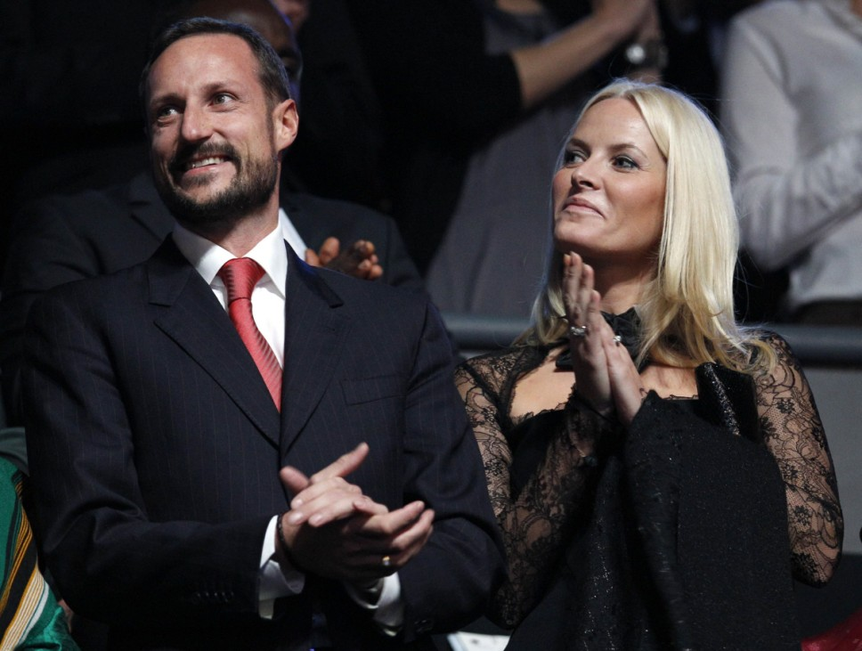 Norway's Crown Princess Mette-Marit and Crown Prince Haakon attend the annual Nobel Peace Prize Concert in Oslo