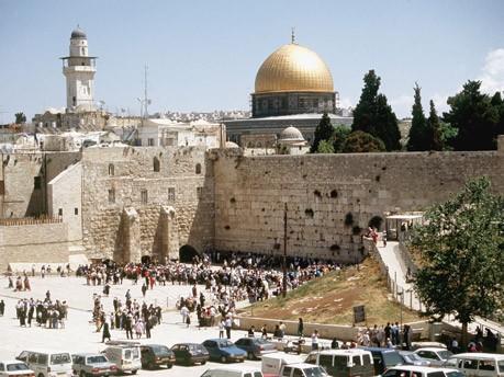 Klagemaur und Al-Aqsa Moschee, dpa