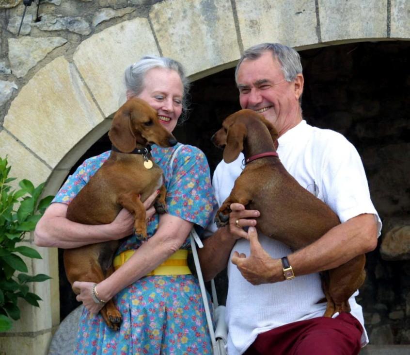 Dänische Königin Margrethe II. und ihr Mann Prinz Henrik, 2001