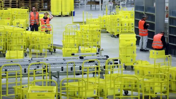 Das Logistikzentrum von AMAZON in Graben, 2012