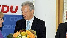 Merkel Tillich Althaus Müller CDU Pressekonferenz, dpa