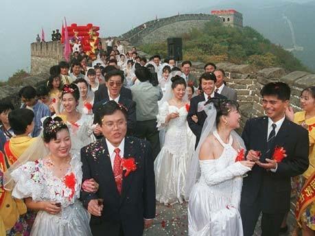 Heiraten auf Chinesisch, Hochzeit, China; dpa