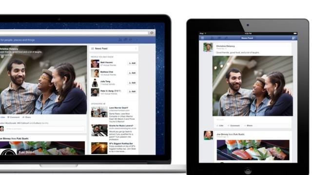 Neuer Newsfeed: Möglichst einheitlicher Look: Facebook auf dem IPad und Notebook