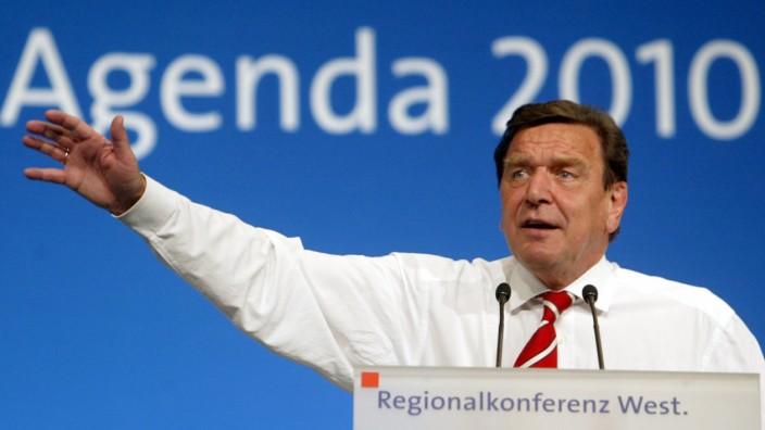 SPD Schröder Agenda 2010 Reformen Arbeitsmarkt