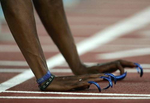 Fingernägel von US-Sprinterin Gail Devers