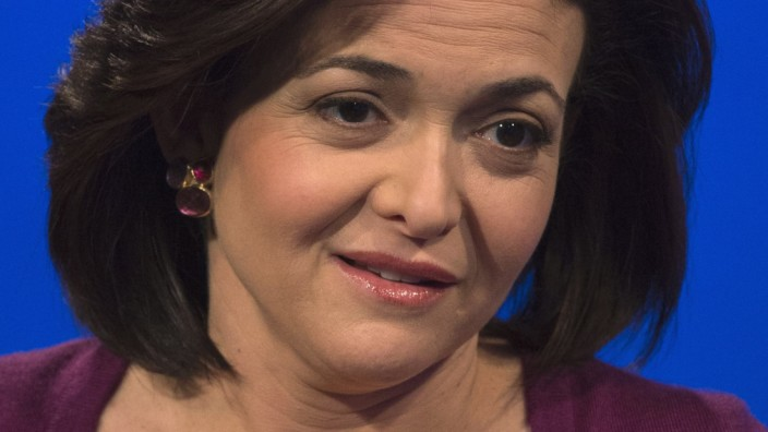 Sandberg, chief operating officer of Facebook, is photographed during an interview in New York