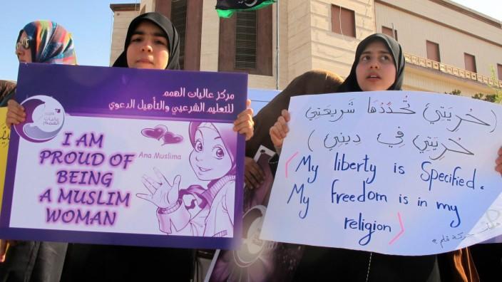 Libyan women protest in tripoli