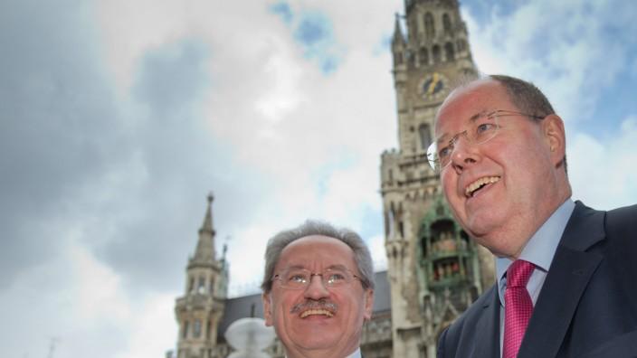 Pressekonferenz Steinbrück und Ude