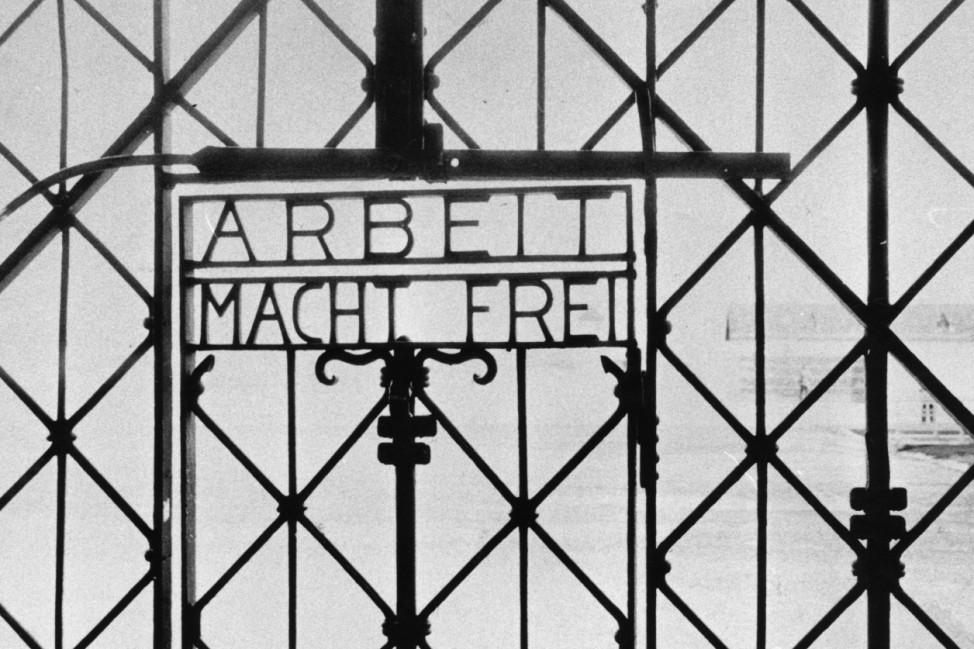 Tor des Konzentrationslagers Dachau, 1933-1945 KZ