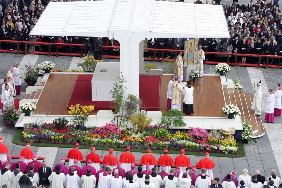 Pope Francis Delivers First 'Urbi Et Orbi' Blessing During Easter Mass In St. Peter's Square