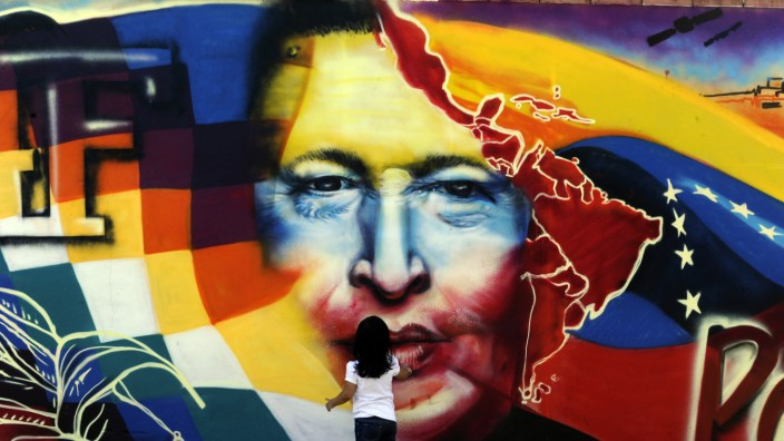 Hugo Chávez als Graffiti