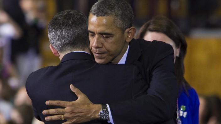 US President Barack Obama Addresses Gun Control