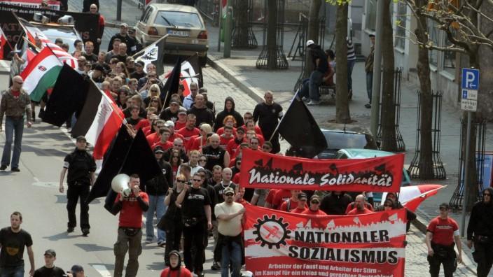 Demonstration der Rechten in Weiden