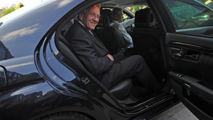 Winfried Kretschmann, Dienstwagen, Limousine, Dienstfahrzeug, DUH