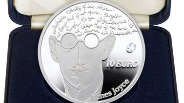 James Joyce Irland, Zentralbank, Gedenkmünze, Münze