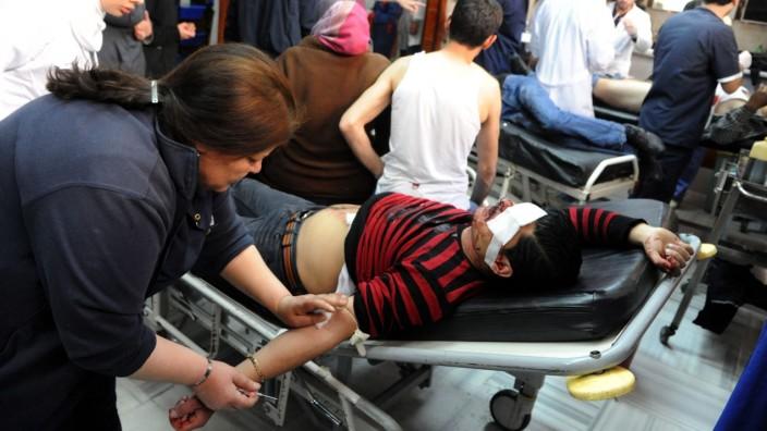 Verwundete im syrischen Bürgerkrieg Syrien