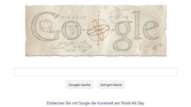 Leonhard Euler, Google Doodle