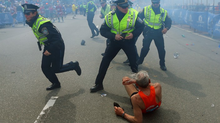 Boston Marathon Bill Iffrig, Bombe, Anschlag