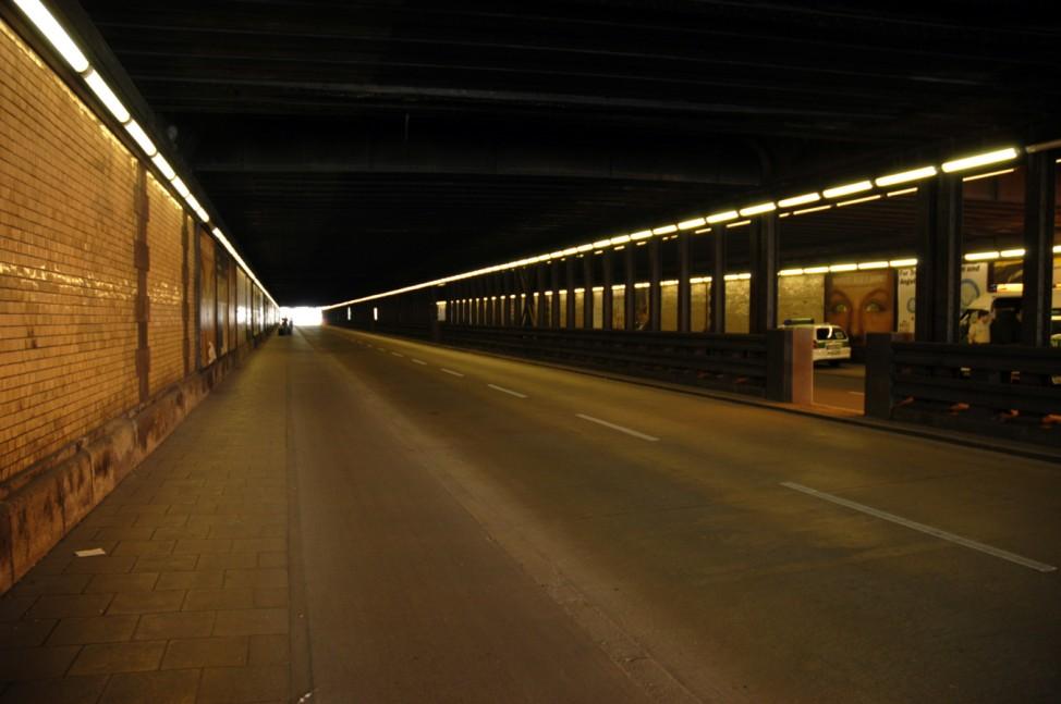 Paul Heyse Tunnel wegen deutsch-irakischer Wirtschaftskonferenz gesperrt, 2005