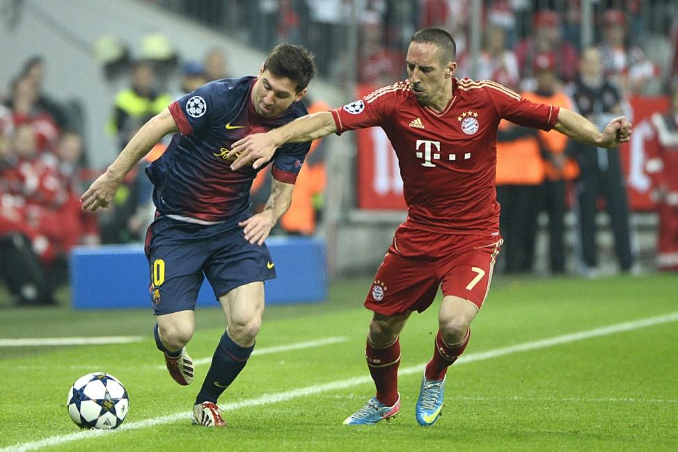 Lionel Messi Franck Ribéry FC Bayern FC Barcelona