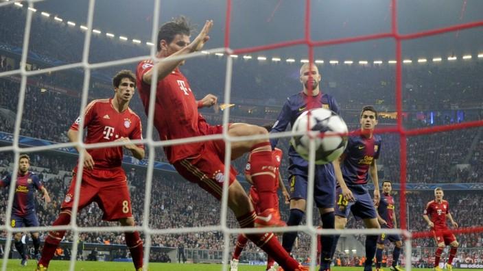 Mario Gomez, FC Bayern München, Fußball Champions League, FC Barcelona