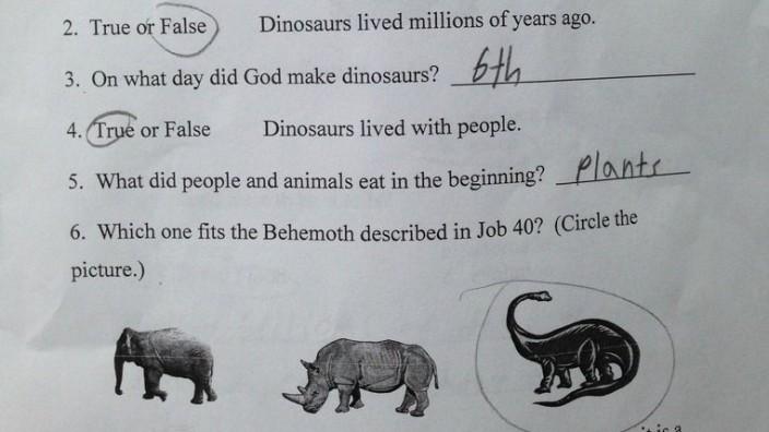 Wissenstest an US-Grundschule