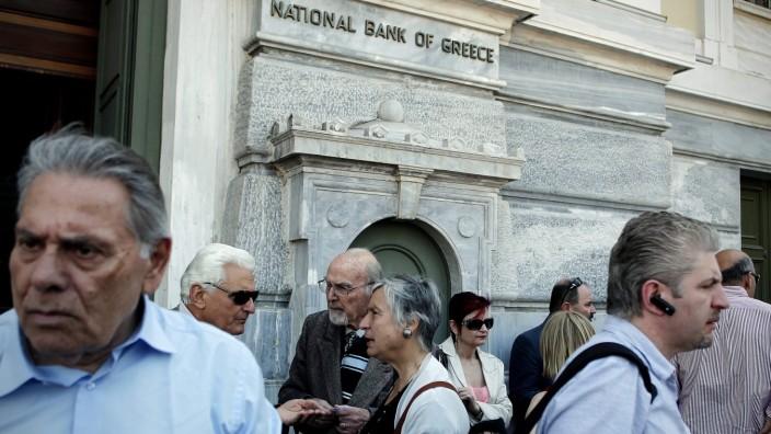 Demonstranten in Athen