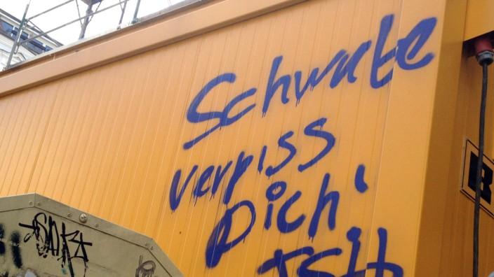 Schmierereien gegen Schwaben in Berlin