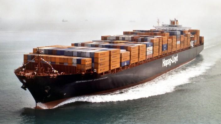 Containerschiff 'Hamburg Express' von Hapag-Lloyd