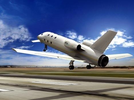 Mit dem Flugzeug in den Weltraum