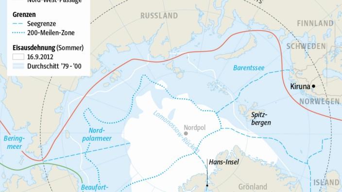 Schiffsrouten in der Arktis