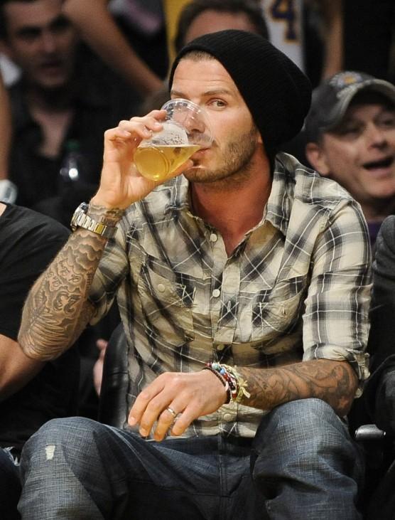 David Beckham bei Basketballspiel in Los Angeles