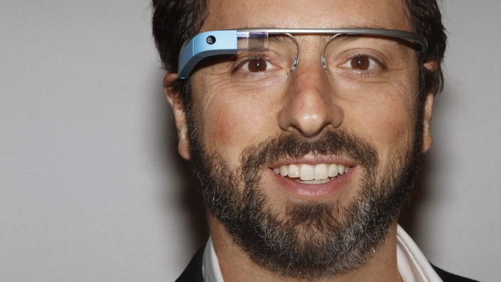 File photo of Google founder Sergey Brin posing for a portrait wearing Google Glass during New York Fashion Week
