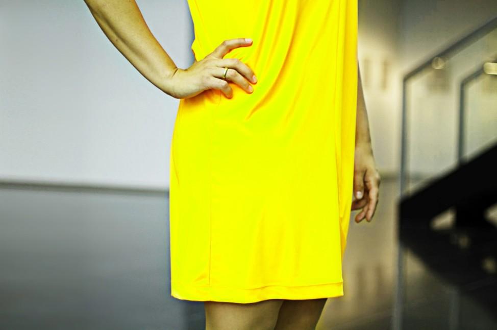 Neonfarbenes Kleid