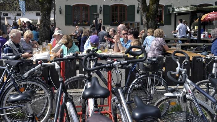 Biergarten Liebhard's Bräustübel in Aying, 2011