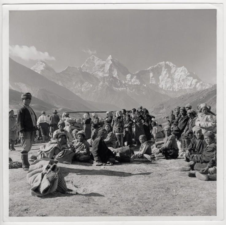 Die Eroberung des Mount Everest Basislager Nepalesen