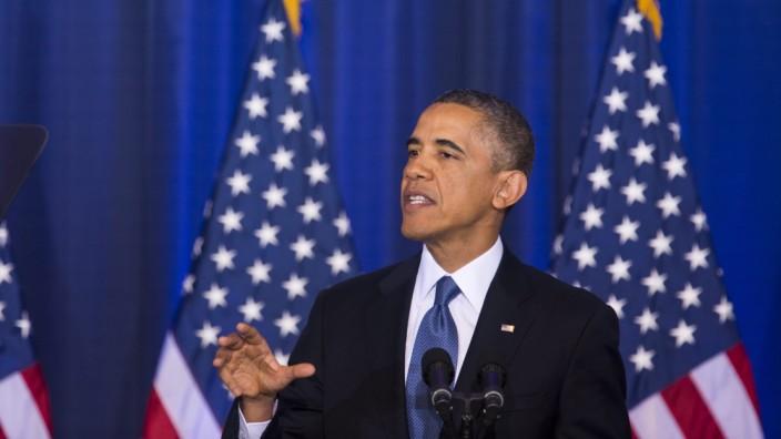 Obama bei seiner Rede an der National Defense University in Washington
