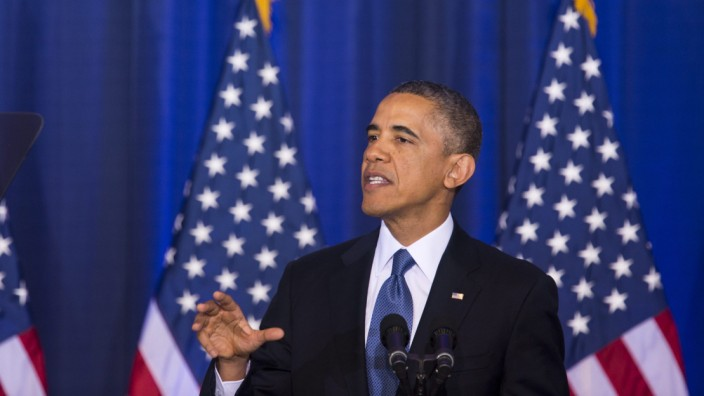 Obama bei seiner Rede an der National Defense University in Washington