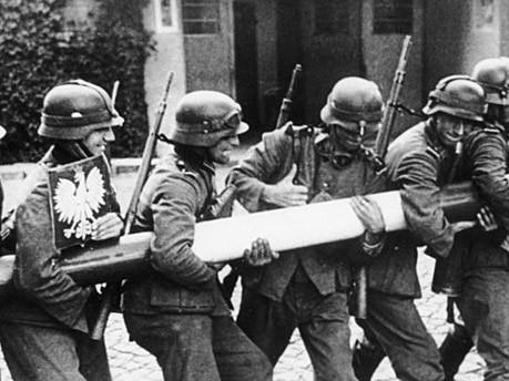 Zweiter Weltkrieg Polen Wehrmacht Schlagbaum Bundearchiv
