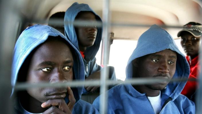 Afrikanische Flüchtlinge Fuerteventura