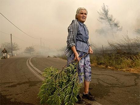 Waldbrand nördlich von Athen; Reuters