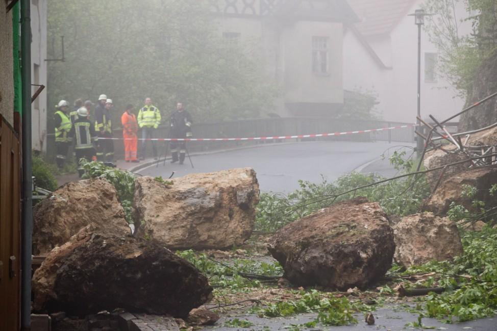 Felsabsturz Burg Veldenstein