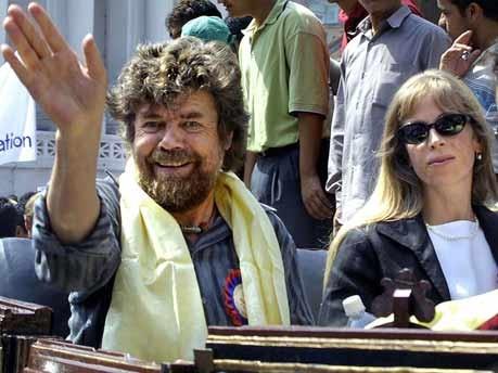 Reinhold Messner, Sabine Stehle, Bergsteiger, AFP