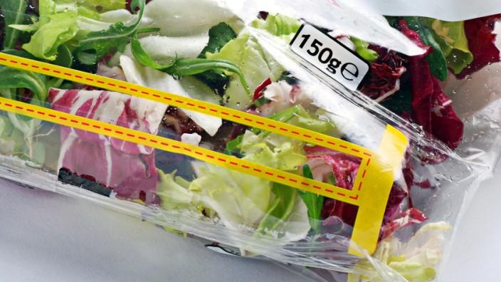 Salat in Tüte