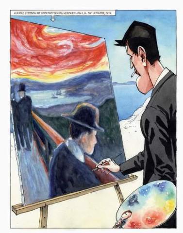 Steffen Kvernelands' Graphic Novel über Edvard Munch